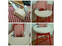 High chair. Only used occasionally. Free walker