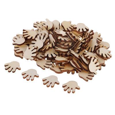 100 stücke holz ausschnitte hand formen holz verschönerung scrapbooking