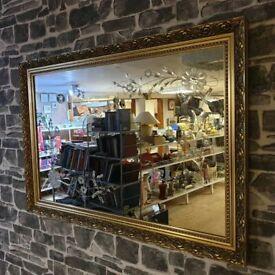 Gold Frame Large Mirror