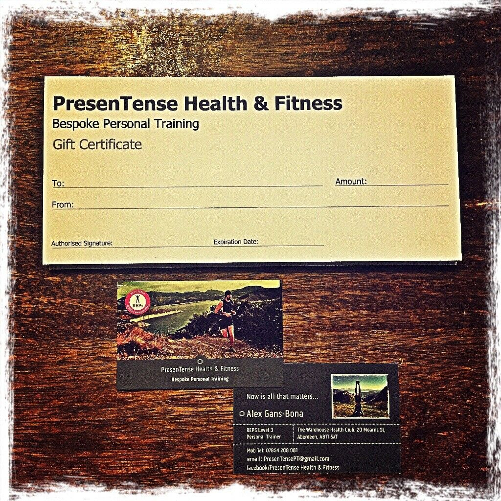Presentense health fitness personal training gift certificates presentense health fitness personal training gift certificates xflitez Gallery
