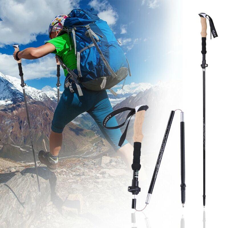 Outdoor Products Hiking Poles Walking Sticks Tri-Fold  Trekk