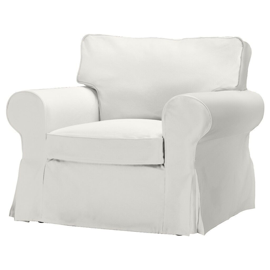 Attractive 1 Seater Arm Chair U0026 2 Seater Ikea EKTORP Sofa In White. Brand New In Box.  RRP £295.