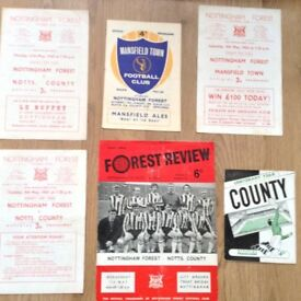 nottingham forest notts county cup football programmes
