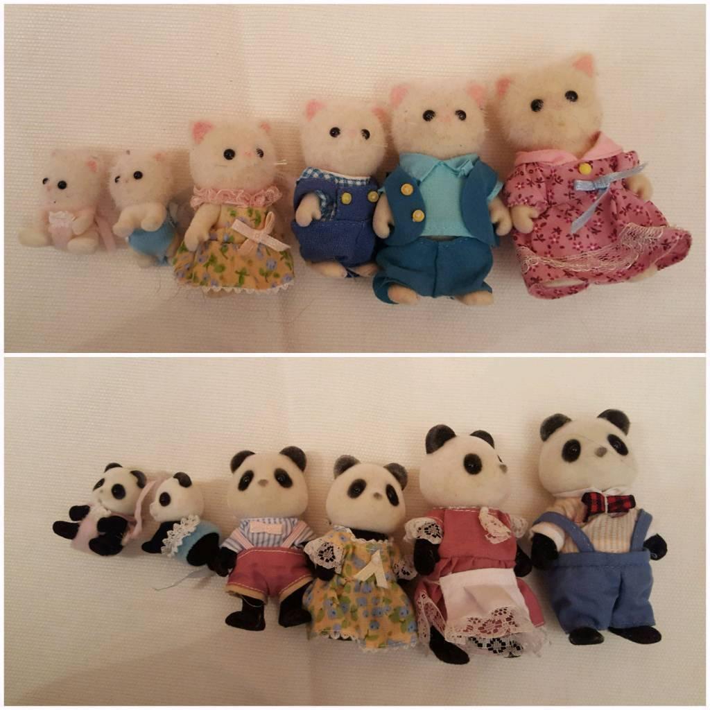 Sylvanian Families Persian Cats & Panda Bears