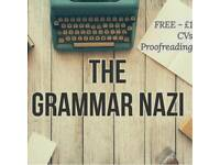 *FREE - £1* proofreading for spelling, grammar on CVs, books, essays, webpages... you name it!