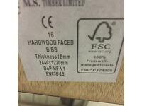 Hardwood Faced Ply 8x4sheets