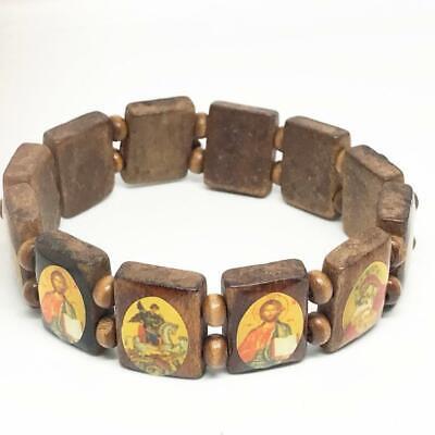 Vintage Religious Bracelet Jesus Joseph Mary