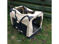 Dog canvas kennel for free