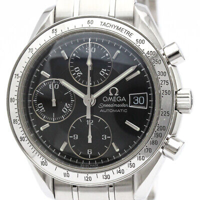 Polished OMEGA Speedmaster Date Steel Automatic Mens Watch 3513.50 BF506399