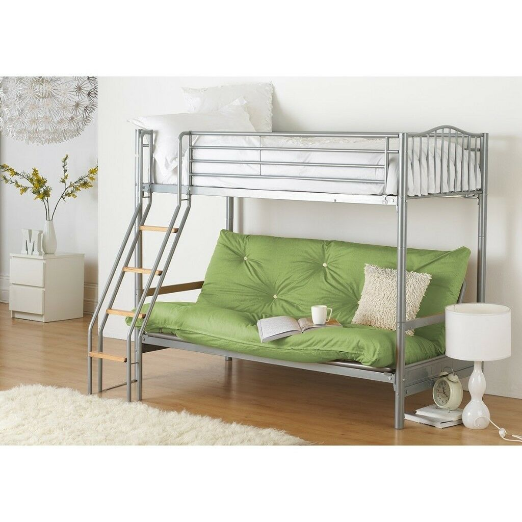 Bunk Bed With Double Futon Less Than A Year Old Collection Only Halkyn