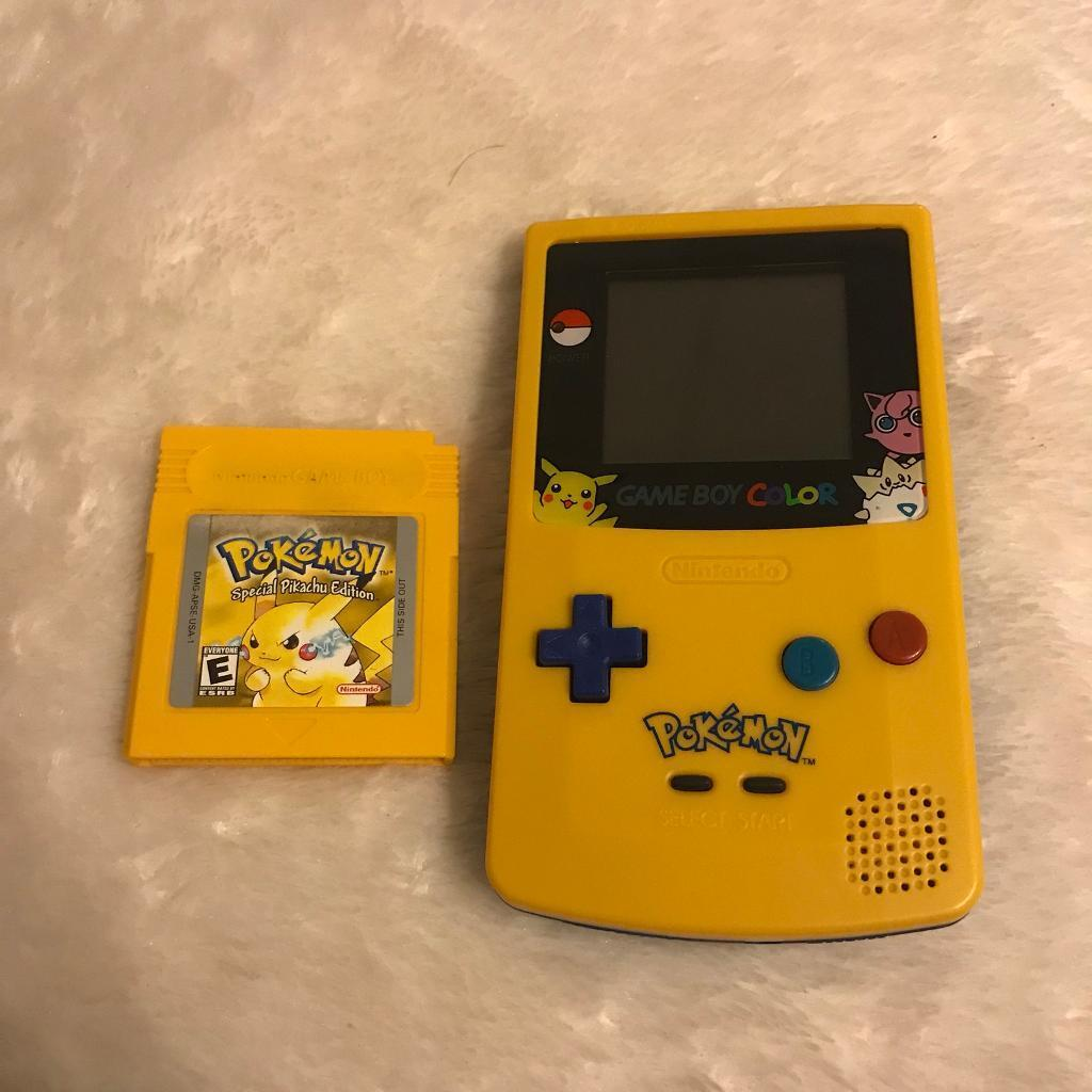 Gameboy color and pokemon yellow - Nintendo Gameboy Color Pikachu Edition W Pokemon Yellow Game