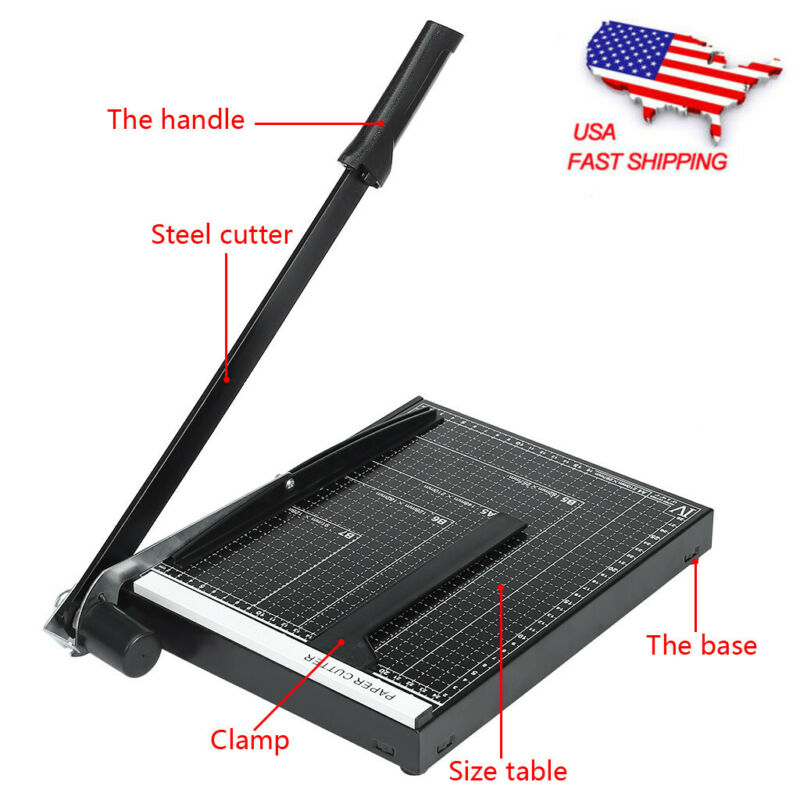 "18"" Paper Cutter A4 To B7 Metal Base Guillotine Page Trimmer"