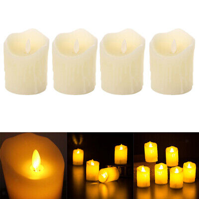 Candele elettroniche a fiamma oscillante da 4 LED a candela senza fiamma
