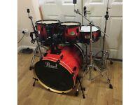 "Fully Refurbished Pearl ELX Drum Kit 22"" Fusion"