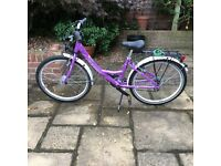 Girl's Bicycle - for approx. 8 to 10 years. Purple colour. Min seat height is approx. 64 cms.