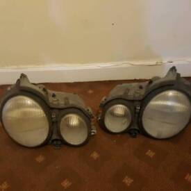 Mercedes w210 E class headlights From 2000 W Reg facelift Used