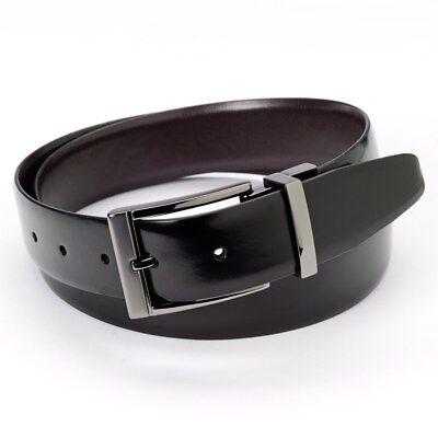 - New APT 9 Feather Edge Reversible Genuine Leather Belt Black / Brown  MSRP $28