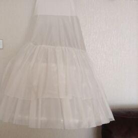 Hooped underskirt for wedding dress