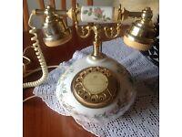 Aynsley fine bone china wild Tudor telephone