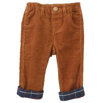 Mud Pie Red Navy Flannel Lined Corduroy Boys Pants Christmas Holiday Best