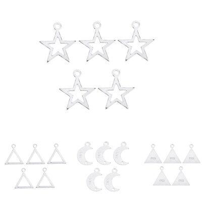5pcs Sterling Silver Charm Dangle Earring Findings Drop Pendants DIY Jewelry Drops Dangles Earring Findings