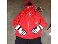 Ladies Ski jacket/gloves/ski goggles/ski pants: size 12/ Medium