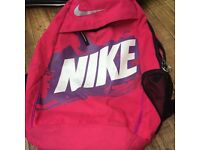 Girls / ladies pink Nike bag