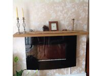"""Flame Effect Electric Fire Wall Mounted 36"""" Black Curved Screen with Remote Control"""