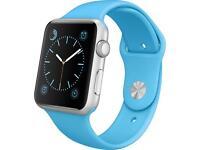 Apple Watch 42mm blue sports band