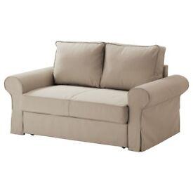 Ektorp Nordvalla dark beige, two seat sofa: £160