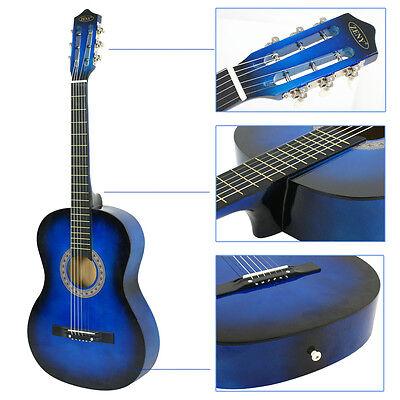 Blue Acoustic Starter Guitar - Professional 38
