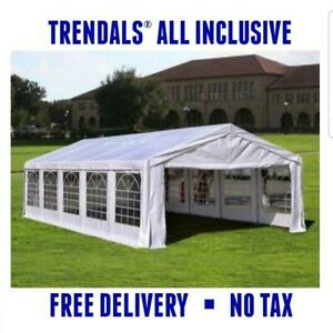 TRENDALS® ALL INCLUSIVE PRICE | 32x16 ft Heavy Duty Wedding Party Canopy Tent SPRING SALE
