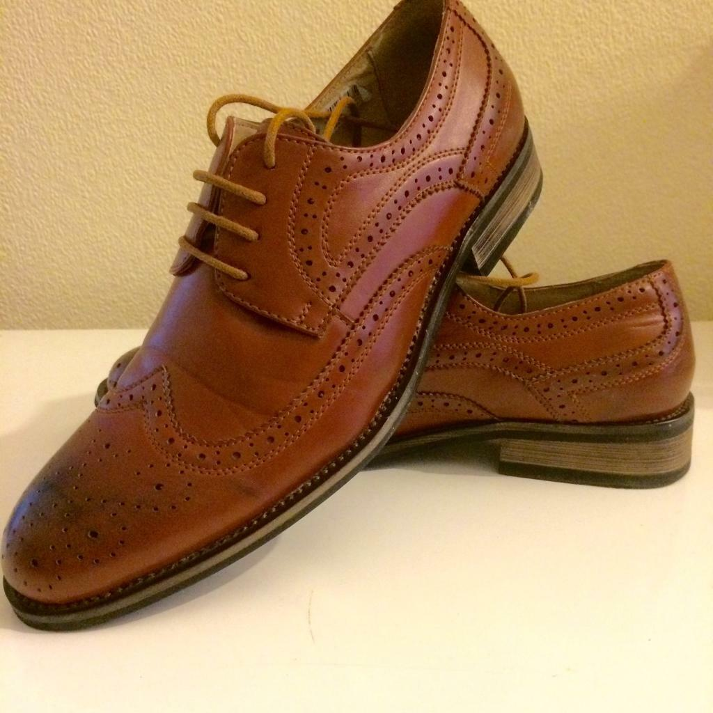 Brown Brogue Shoes Size 7