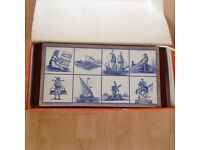 Hot plate as new - beautiful Delft pattern - made in Holland by NEY (Dutch).