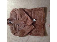 Men's tan leather jacket BRAND NEW XXXL £50