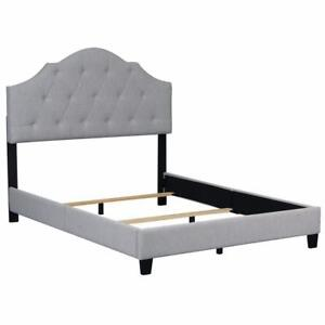 New, Home Meridian Queen All-In-One Uph Bed in Mist *PickupOnly