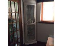 Glass corner display cabinet