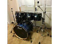 Fully Refurbished 6 Piece Pearl Vision Drum Kit ~ Free Local Delivery