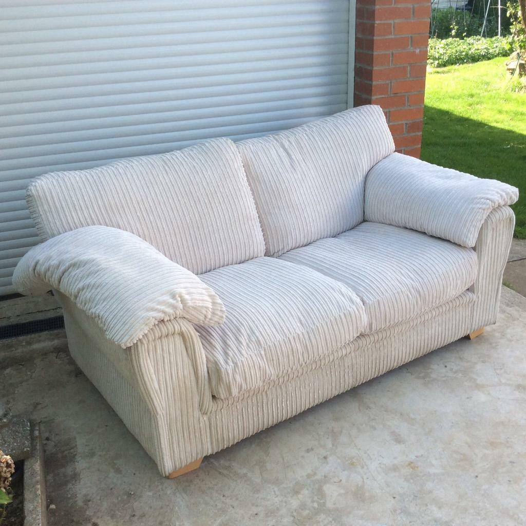 Sofa Bed Settee Beige/cream Two Seater - Clean - SCS