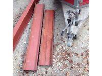 Steel girder RSJ beam gate post lintel