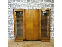 Unusual Art Deco Display Cabinet