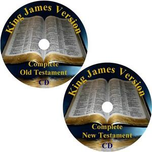Bible - King James Version Audio Bible, Complete KJV All 66 Books on 2 MP3 CDs