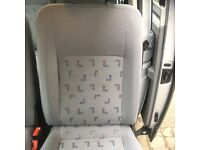 VW Transporter Caravelle LWB seat. Professionally removed. Just valeted. Grey pattern
