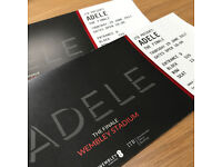 2 x ADELE Seated Tickets Thursday 29th June 2017 Wembley Stadium COLLECTION or DELIVERY 29 06 17