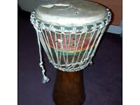 African djemebe drum made in Gambia