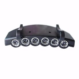 CR2032 Button Battery Cap Head 4 Modes Brim Lamp Headlamp Fishing Black