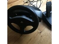PS4 thrustmaster t80 racing wheel and pedals