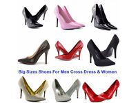Men Women Cross Dresser Drag Queen Patent Leather High Heels Shoes Size 9-12