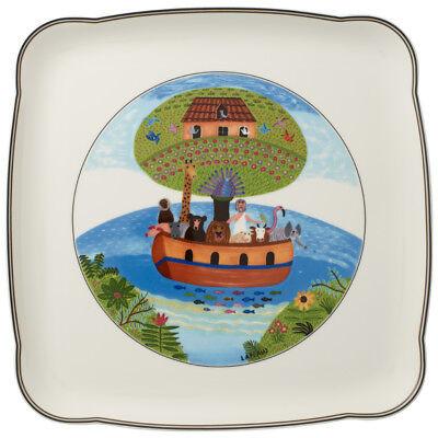 Villeroy & Boch Charm & Breakfast Design Naif Square Platter 11 3/4 in - Set of  4in Square Platte