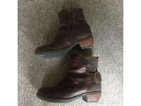 Women's Fly of London Brown Ankle Boots size 5 / 38 - Very good condition